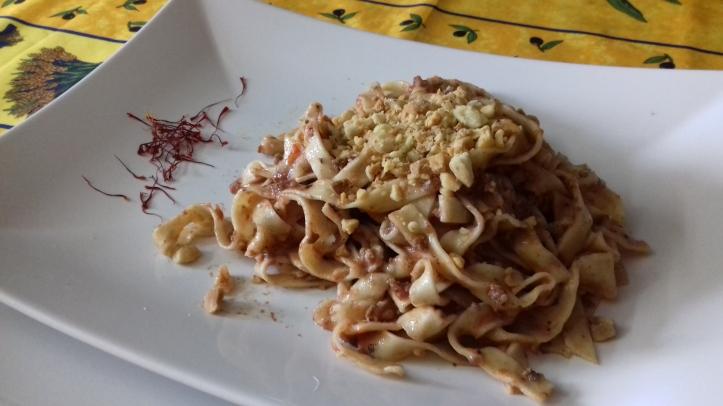 Ricetta Fettuccine alle mandorle-La cucina Pia-www.lacucinapia.com.jpg
