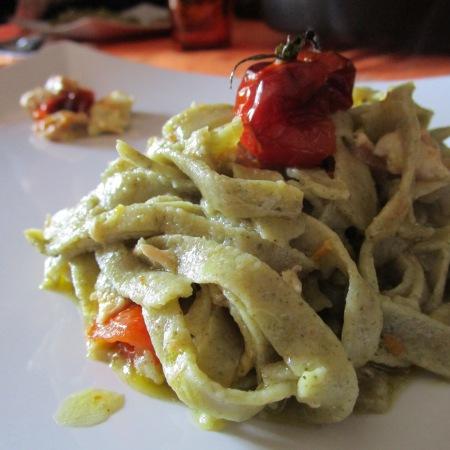 Tagliolini al te bancha - La cucina Pia www.lacucinpia.com
